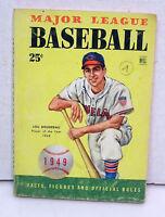 1949 DELL Major League Baseball Book-Lou Boudreau Front Cover- 130 pages