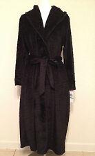 NEW Jones New York Intimates Animal Plush Oversize Collar Robe 1J172R L/XL Black