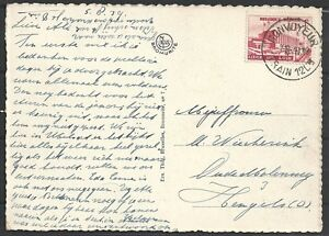 Belgium covers 1938 OBP 485 PPC CONVOYEUR TRAIN 12C8