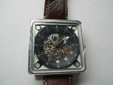 Fossil Automatic men's water resistant brown leather & Analog used watch.ME-3009