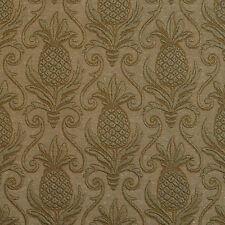 E525 Green, Pineapple Durable Jacquard Upholstery Grade Fabric By The Yard