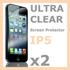 2 x Ultra Clear LCD Screen Protector Guard Film Skin for Apple iPhone 5S 5C 5