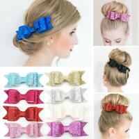 Girls Women Bow Knot Hairpin Sequined Hair Clip