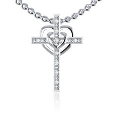 Party 0.05ct 14k Gold Natural Full Cut Round Diamond Heart Key Pendant Pave