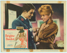 Rare Orig VTG 1960 Brigitte Bardot Babette Goes To War 11x14 Movie Lobby Card