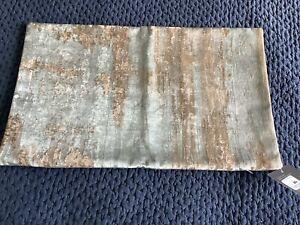 New Restoration Hardware Velvet Brushstroke Abstract Lumbar Pillow Cover $279