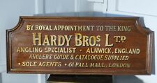 Hardy Bros Ltd, Angling Specialists Large Oak Wall Plaque