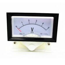 New DC 0-5V Analog Dial Panel Meter Voltmeter Gauge Voltage Meter