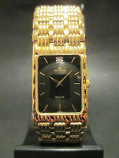 A48 NEW JB CHAMPION Gold Dress Stainless Steel Band WATCH Square VINTAGE Dress