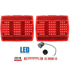 64 65 66 Ford Mustang Red LED Sequential Tail Light Lamp Lenses Pair w/ Flasher