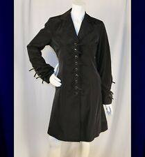 BETSEY JOHNSON  Black with Lace Woman Trench Rain Coat