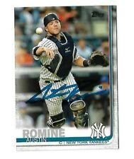 New York Yankees AUSTIN ROMINE  Signed 2019 Topps Card #426