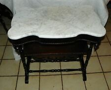 Rosewood Turtle Top Marble Entry Table / Parlor Table  (T429)