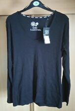 Womens Moda Size 14 V Neck Long Sleeve Top Ladies Euro 42 Black
