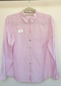 Women's Shirt, Size 12 Pink Blouse Top  Long Sleeved Blouse 100% cotton