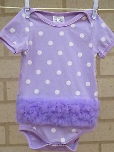 Baby girl bodysuit romper summer cute ruffle - Purple Medium 00/3m+