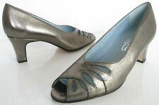 VAN DAL SIZE 3 36 WOMENS BRONZE CUT OUT SLIP ON COURT SHOES PEEPTOES HEELS PUMPS