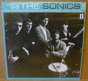 SONICS Here Are The Sonics LP NORTON RECORDS 1965 US reissue+mono+bonus tracks