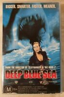 Deep Blue Sea VHS 1999 Horror Renny Harlin Roadshow Entertainment (Ex-Rental)