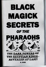 BLACK MAGICK SECRETS OF THE PHARAOHS by S. Rob book occult magic egyptian