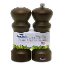 Trudeau Wood Pepper Mill and Salt Shaker Set - Brand New