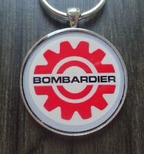 Ski Doo Bombardier Gear Logo Snowmobile Reproduction Keychain