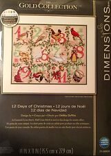 Counted Cross Stitch Kit Dimensions Gold Collection 12 Days of Christmas Sampler