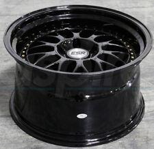 "19"" ESR SR01 Black Wheels 19x9.5 +22 / 19x10.5 +22 5x114.3 Staggered Rims Set 4"