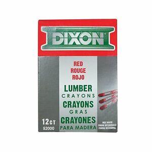 Dixon Ticonderoga 52000 Red Lumber Crayons (Dozen)