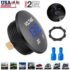 12V-24V Car Marine Motorcycle LED Digital Voltmeter Voltage Meter Battery Gauge