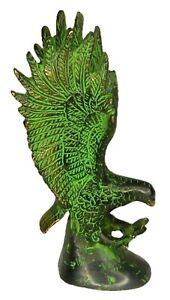 Eagle Statue Handmade Brass Figurine Paperweight Napkin Visiting Card Holder