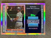 2002 Topps Archives Reserve Robin Yount Game Used Jersey - Milwaukee Brewers