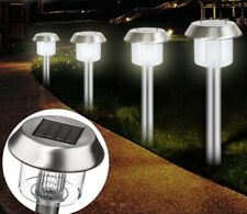 6 Garden Outdoor Stainless Steel White LED Landscape Solar Path Light Waterproof