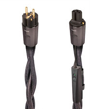 AUDIOQUEST THUNDER/HIGH CURRENT AC POWER CABLE 1MT 2-Pole Wall Plug to IEC NUOVO