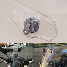 Clear Adjustable Clip On Windshield Extension Spoiler Wind Deflector Motorcycle