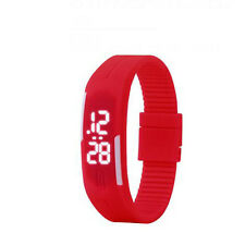 Simple Fashion Men's Digital LED Sports Silicone Bracelet Wrist Watch Waterproof