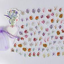 Flowers Child Notebook PVC Stickers Transparent Decorative Album Kid Toy