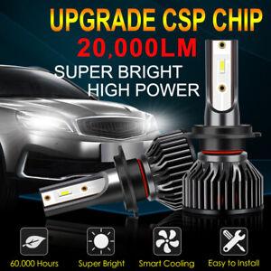 2Pcs Mini CSP LED Headlight Bulb Kit High Low Beam 6000K Super White 12000LM 50W
