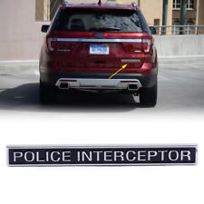 POLICE INTERCEPTOR ABS Emblem Badge Car Trunk Sticker For Ford Cars 13x1.4x0.5cm