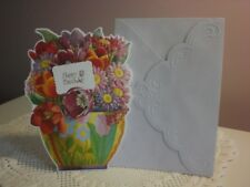 Carol's Rose Garden - Happy Birthday - A Vase of beautiful flowers on the front