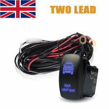 CAR 40A LED Light Bar Wiring Harness Relay 5-Pin Rocker Switch Controller 2 Lead