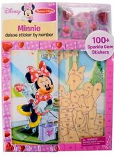 NEW Disney Cinderella & Minnie Mouse Deluxe 100+Sticker by Number