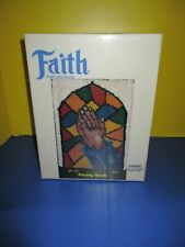 """Vintage Praying Hands Wall Hanging Latch Hook Kit 20"""" x 27"""" New in Box"""
