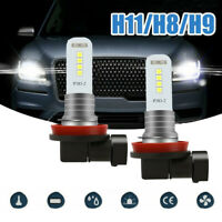 2x H11 H9 H8 LED Car Fog Driving Light 100W 6000K DRL Bulbs Super Bright White