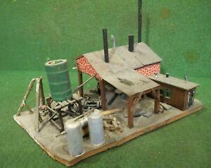 HO Scale Vintage building (Weathered & Detailed) built up wood kit~ custom?