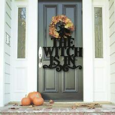 Halloween Non-Woven Hanging Sign The Witch is in Halloween Wall Door Decoration