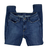 Calvin Klein Women's 8 Jeans Pants Skinny Denim Zip Fly Mid Rise Dark Wash Blue