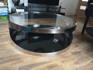 Coffe table living room -glass