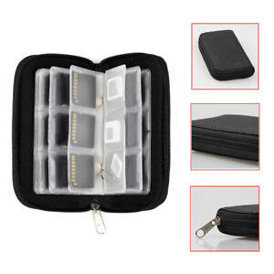 Memory Card Case Wallet  For Micro SD SDHC CF SM Protective Storage Holder Pouch
