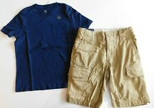 NWT Gap Boy 2 Pc Shorts Set Blue T-Shirt/Cargo Shorts Adjustable Waist S/6 S/7